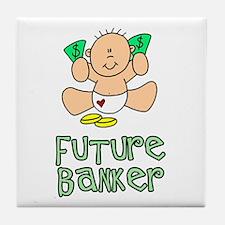Future Banker Baby (tx) Tile Coaster