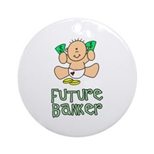 Future Banker Baby (tx) Ornament (Round)