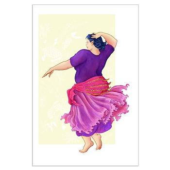 Dancing Elf Large Poster