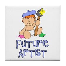 Future Artist Baby (tx) Tile Coaster