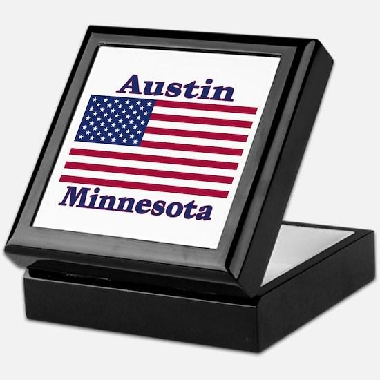Austin Flag Keepsake Box