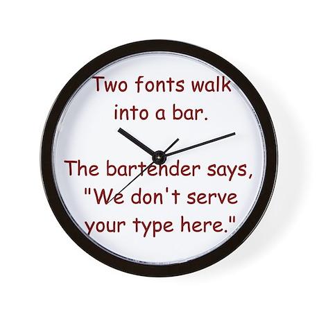 Fonts... Wall Clock