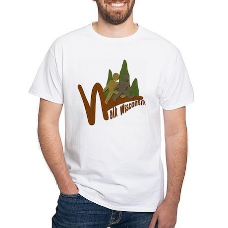 Walk Wisconsin White T-Shirt