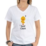 Golf Chick Women's V-Neck T-Shirt