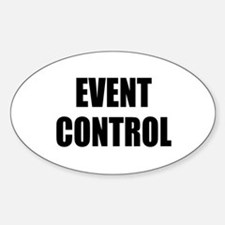Event Control Oval Decal