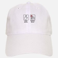 Push Button Receive Bacon Baseball Baseball Cap
