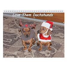 Love Them Dachshunds Calendar