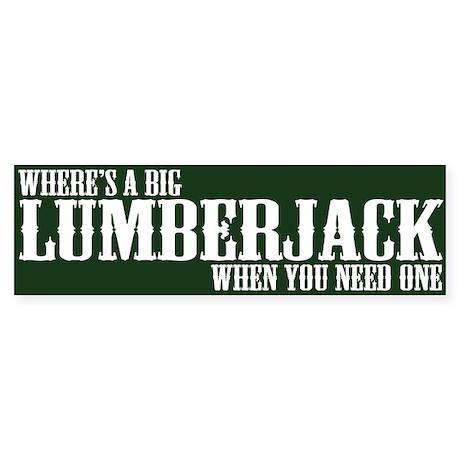 Lumberjack Bumper Sticker