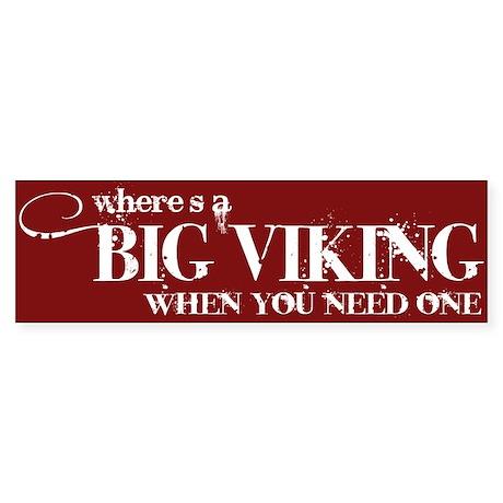 Big Viking Bumper Sticker