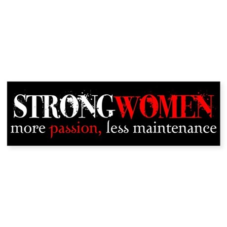 Strong Women Bumper Sticker