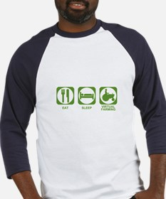 Eat Sleep Virtual Farming Baseball Jersey