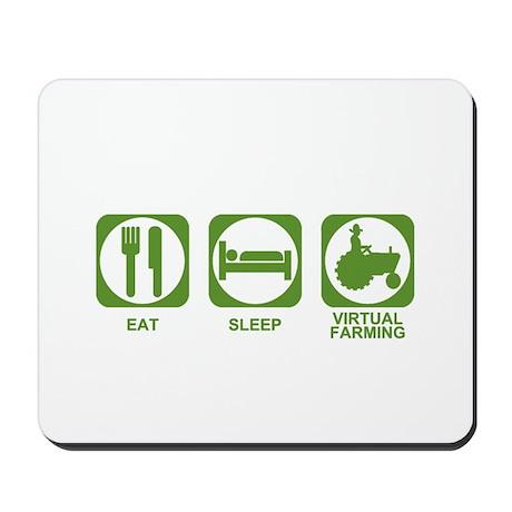 Eat Sleep Virtual Farming Mousepad