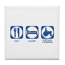 Eat Sleep Virtual Farming Tile Coaster