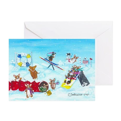 Waiting For The Thaw Greeting Cards (Pk of 10)