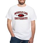 Muscle Car University T-Shirt White