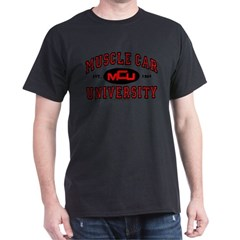 Muscle Car University Black T-Shirt