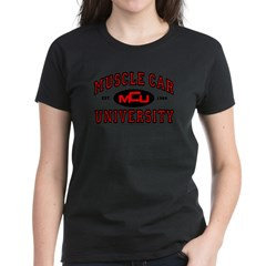 Muscle Car University Women's Black T-Shirt