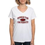 Muscle Car University Women's V-Neck T-Shirt