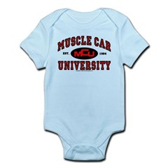 Muscle Car University Infant Bodysuit