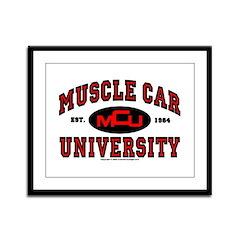 Muscle Car University Framed Panel Print