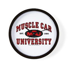 Muscle Car University Wall Clock