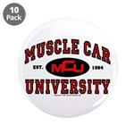 """Muscle Car University 3.5"""" Button (10 pack)"""