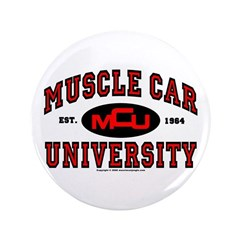 """Muscle Car University 3.5"""" Button (100 pack)"""