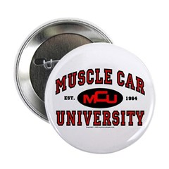 "Muscle Car University 2.25"" Button"