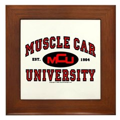 Muscle Car University Framed Tile