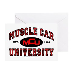 Muscle Car University Greeting Card