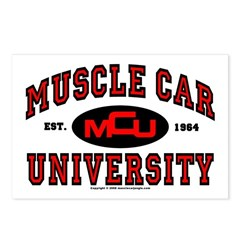 Muscle Car University Postcards (Package of 8)