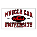 Muscle Car University Rectangle Sticker