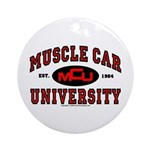 Muscle Car University Ornament (Round)