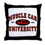 Muscle Car University Throw Pillow