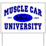 Muscle Car U Yard Sign