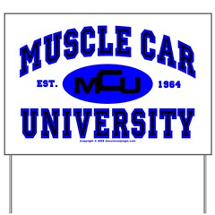 Muscle Car U Yard Sign