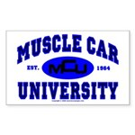 Muscle Car U Rectangle Sticker