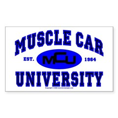Muscle Car U Rectangle Decal