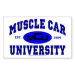 Muscle Car U Rectangle Sticker