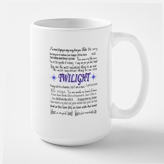 Twilight quotes Large Mug