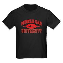 Musclecar University III Kids Black T-Shirt