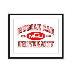 Musclecar University III Framed Panel Print