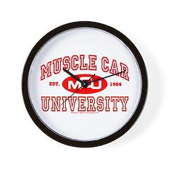 Musclecar University III Wall Clock