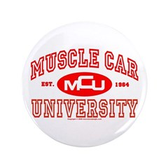 "Musclecar University III 3.5"" Button (100 pack)"