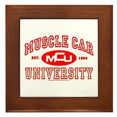 Musclecar University III Framed Tile