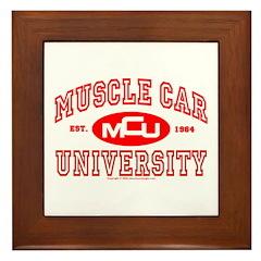 Musclecar University III Framed Tile