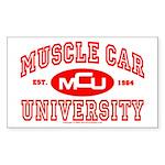 Musclecar University III Rectangle Sticker