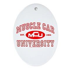 Musclecar University III Oval Ornament
