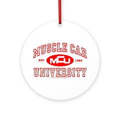 Musclecar University III Ornament (Round)