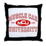 Musclecar University III Throw Pillow